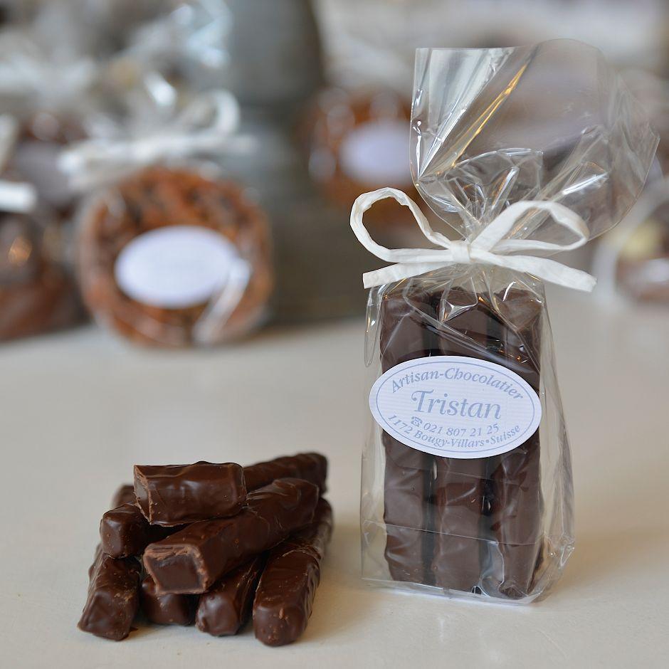 Barre caramel fondantine Tristan Chocolatier Suisse