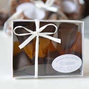 Boite Oranges confites Sicile Chocolat noir Tristan Chocolatier Suisse