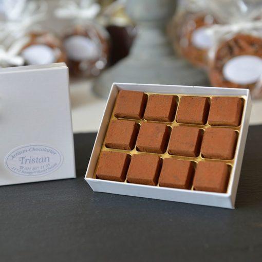 Boite Pavés 12 pièces Tristan Chocolatier Suisse