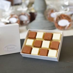 Boite Pavés damier 12 pièces Tristan Chocolatier Suisse