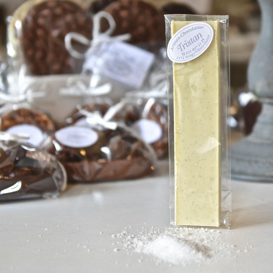 Chocolat blanc sel Alpes suisses Tristan Chocolatier Suisse