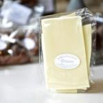 Feuillantines nature, chocolat blanc