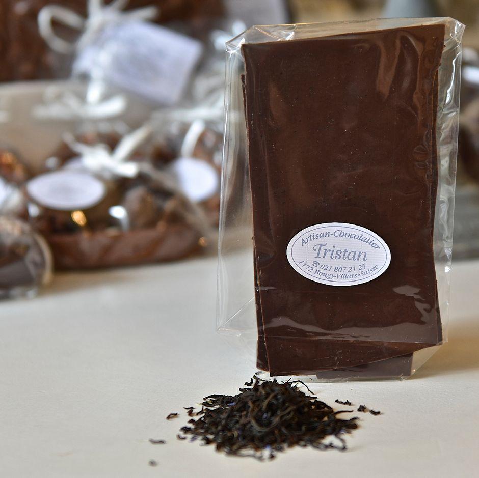 Feuillantine Chocolat noir 54% Bergamote Tristan Chocolatier Suisse