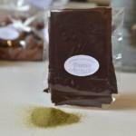 Feuillantines à la myrte, chocolat noir 65 %