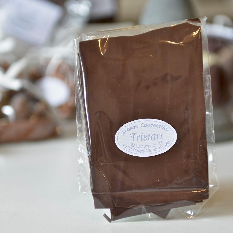 Feuillantine Chocolat noir 54% nature Tristan Chocolatier Suisse