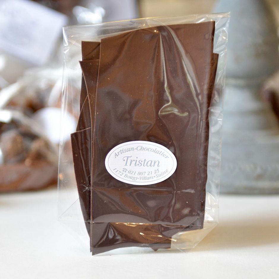 Feuillantine Chocolat noir 65% nature Tristan Chocolatier Suisse