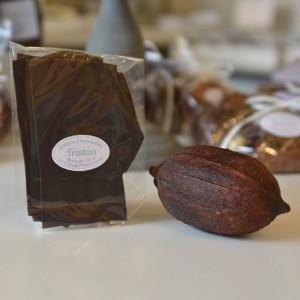 Feuillantine Chocolat noir nature 98% Tristan Chocolatier Suisse