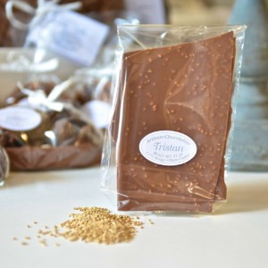 Feuillantine Chocolat lait Sésame Tristan Chocolatier Suisse