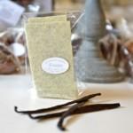 Feuillantines à la vanille, chocolat blanc