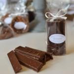 Lamette à l'orange, chocolat noir 54 %
