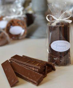 Lamette orange Noir 56% Tristan Chocolatier Suisse