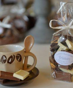 Pause Café Rectangle nature mélange lait blanc noir 54 % Tristan Chocolatier Suisse