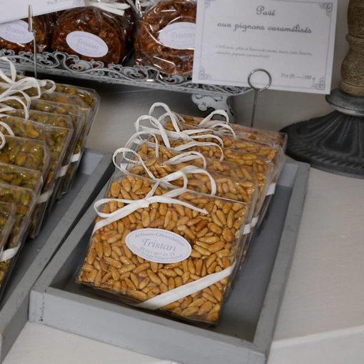 Pavé Pignons Caramélisées Tristan Chocolatier Suisse