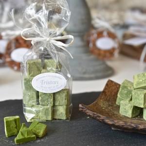Pavés blanc Thé vert Japon Tristan Chocolatier Suisse