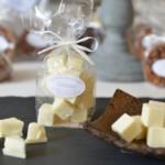 Pavés, chocolat blanc