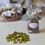 Pistaches enrobées, chocolat noir 54 %