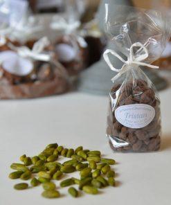 Pistaches enrobées, chocolat noir 56 % Tristan Chocolatier Suisse