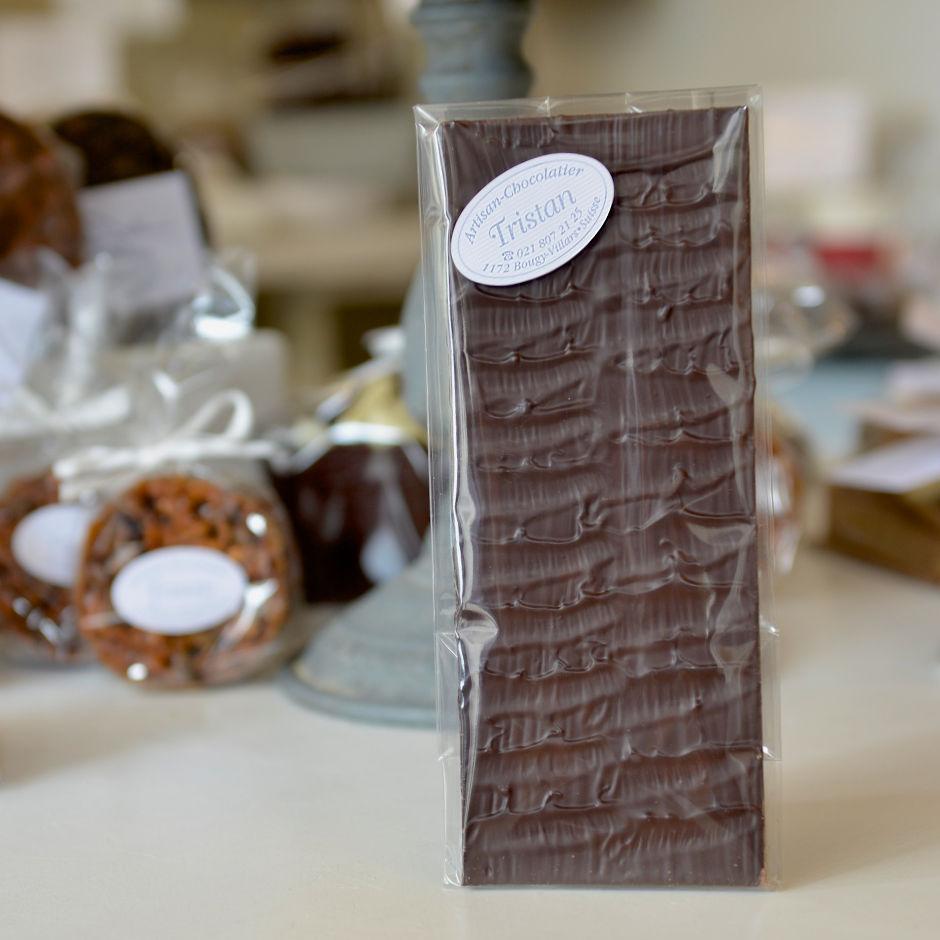 Plaque noir 65% nature Tristan Chocolatier Suisse