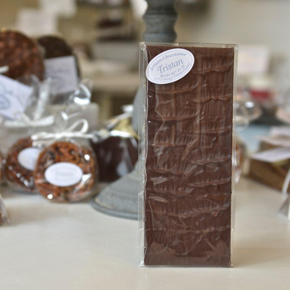 Plaque noir 54% nature Tristan Chocolatier Suisse