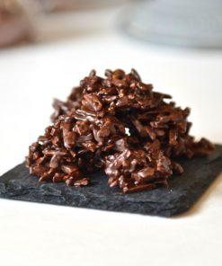 Rocher Amandes noir Tristan Chocolatier Suisse