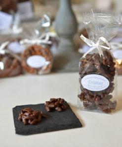 Rocher Pistache Noir Tristan Chocolatier Suisse