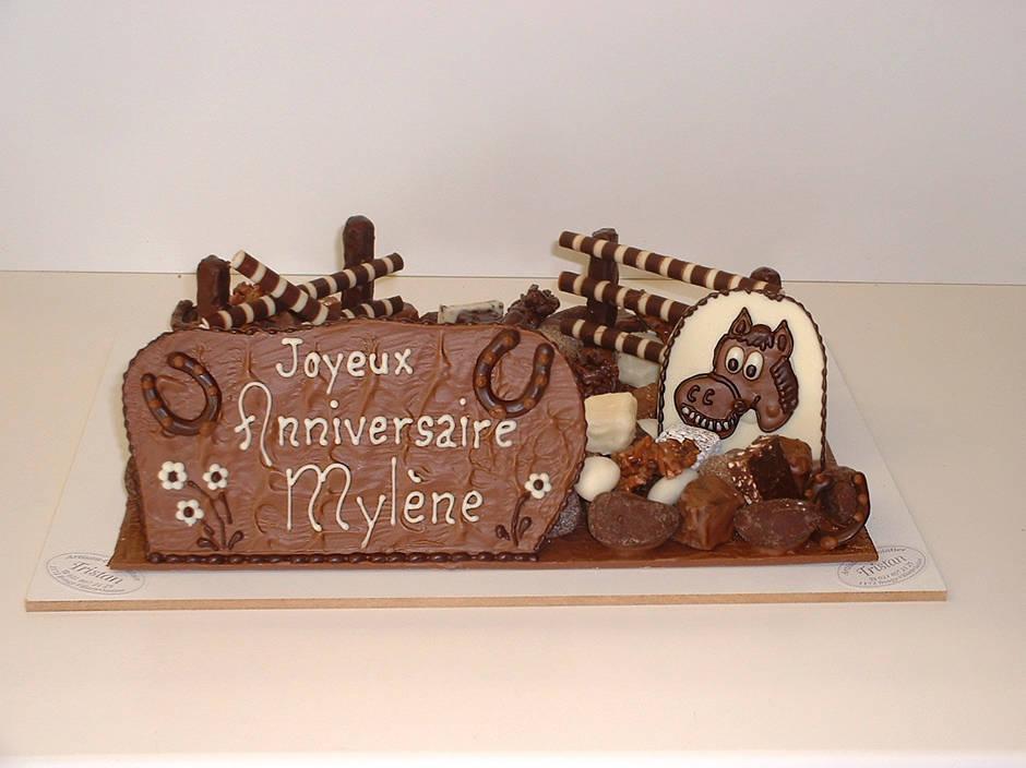 Joyeux Anniversaire Chocolat Création Tristan Chocolatier