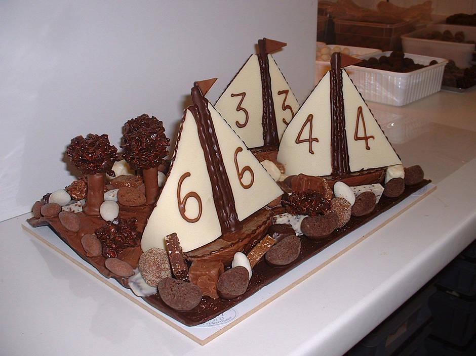 Voiliers Chocolat Création Tristan Chocolatier