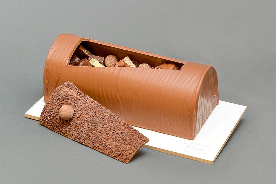 Bûche de Noël Création Tristan Chocolatier
