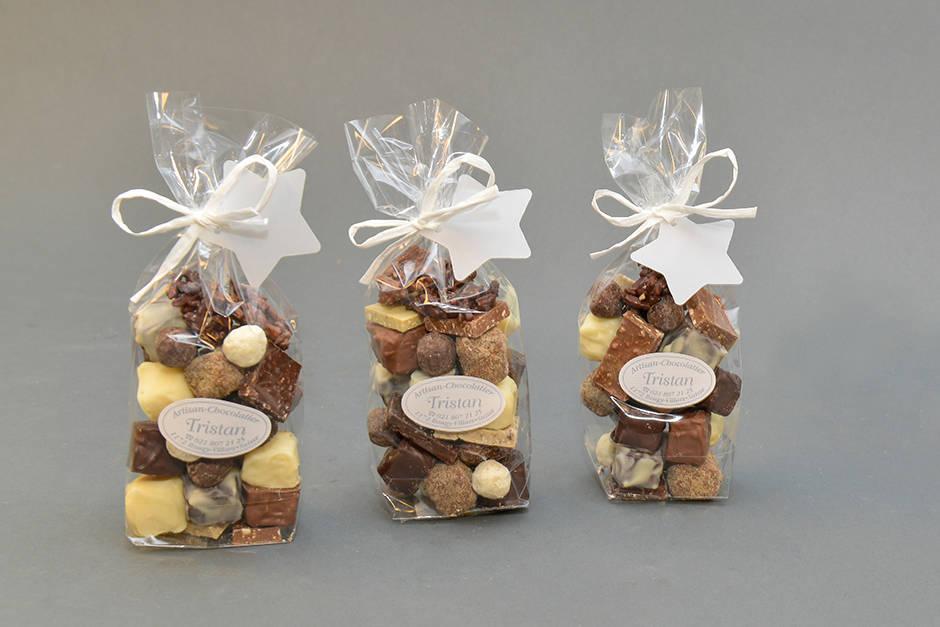 Sachets de Noël Création Tristan Chocolatier