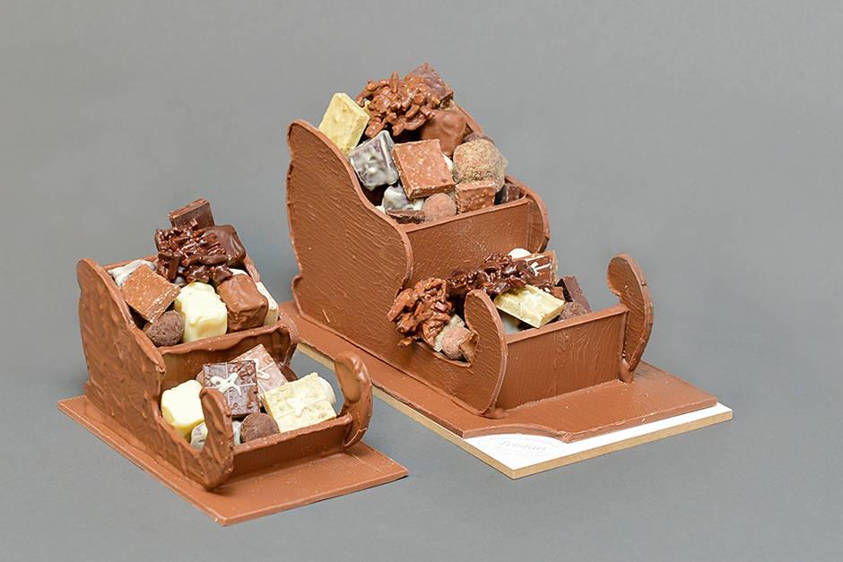 Petit et Grand Traineau Création Tristan Chocolatier