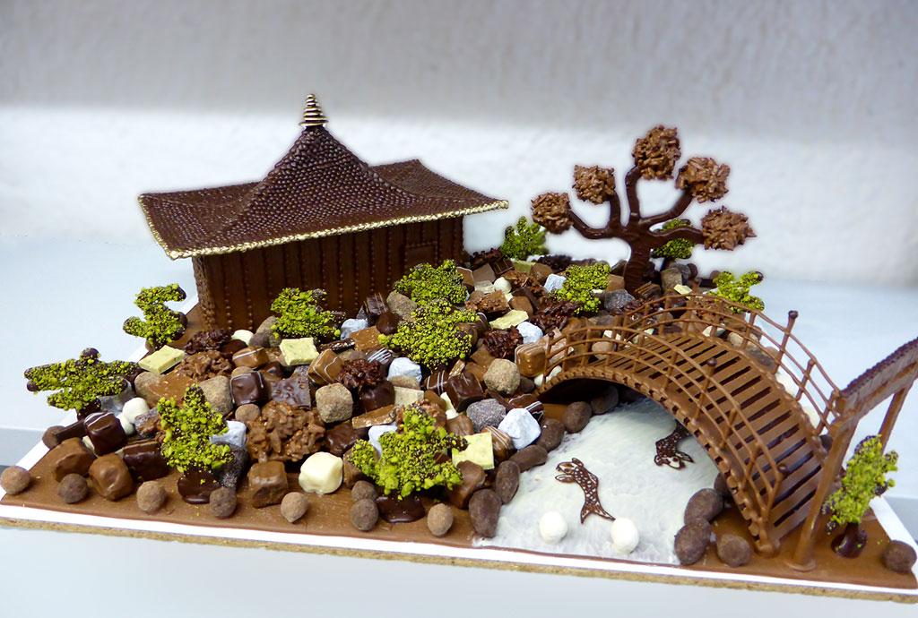 Jardin japonais composition tristan chocolatier - Petit jardin japonais miniature brest ...