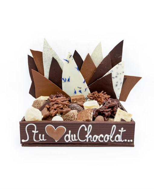Caissette Feuillantines Chocolat Noir Tristan Chocolatier
