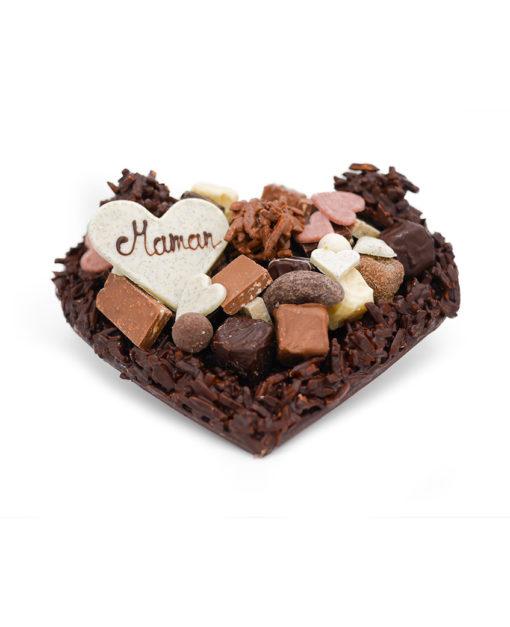 Coeur Moyen Rocher Noir Fête des Mères Tristan Chocolatier