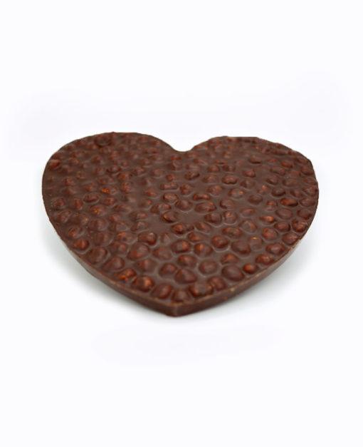 Coeur noisettes chocolat Noir Tristan Chocolatier