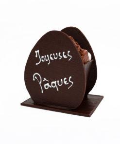 Oeuf Joyeuses Pâques Noir Mélange gourmand