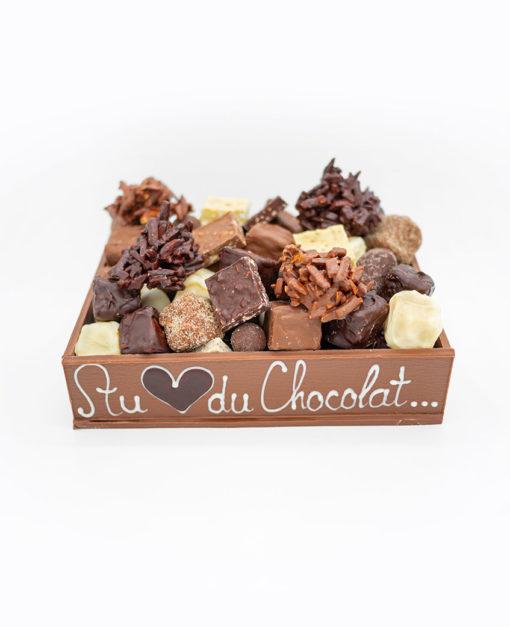 Petite Caissette Chocolat Lait Mélange gourmand Tristan Chocolatier