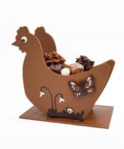 Grande poule Chocolat Lait Mélange gourmand Tristan Chocolatier